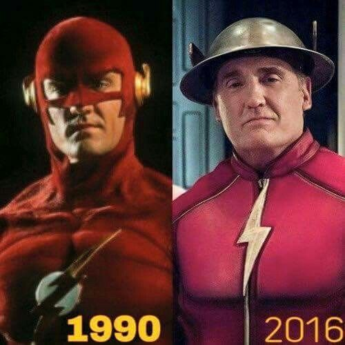 The Flash Barry Allen and Jay Garrick played by John Wesley Shipp
