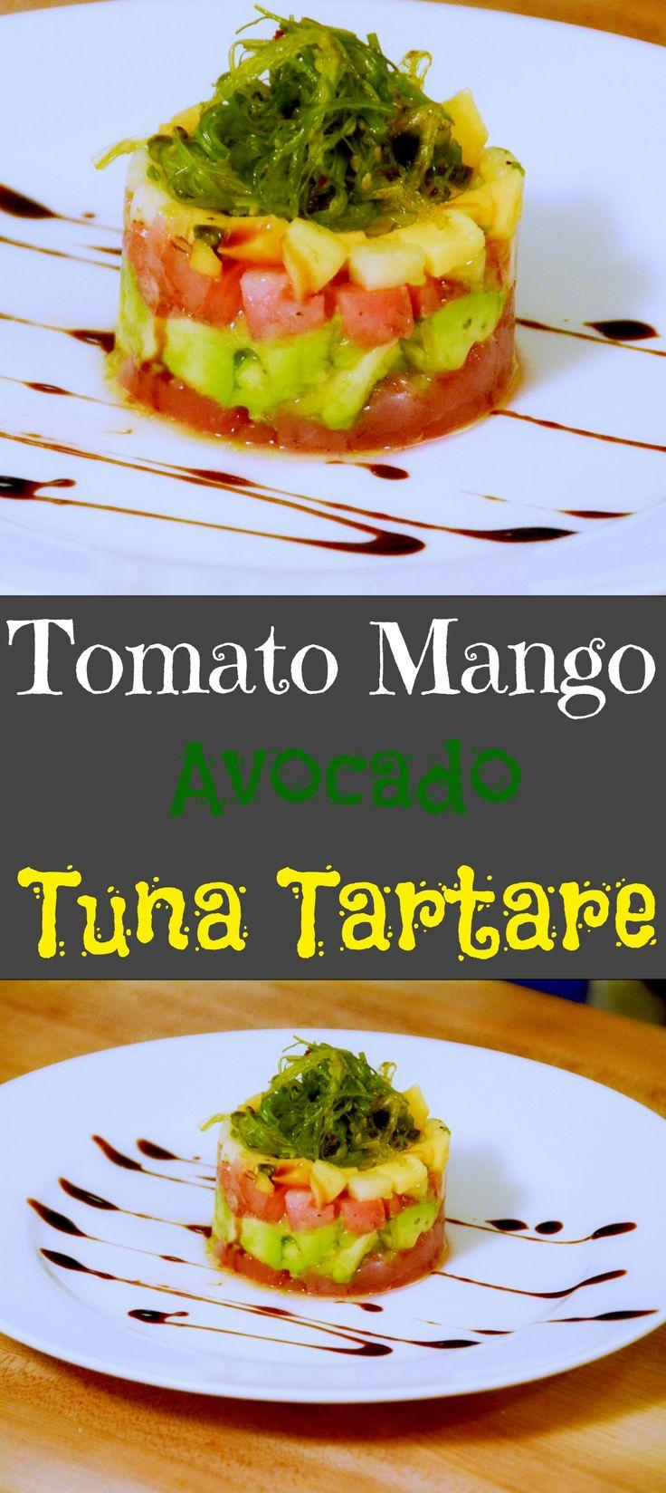 Tomato Mango Avacado Tuna Tartare