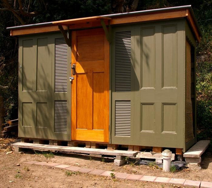 Repurposed Door Garden Shed. Looks Like GG Is A Hunting At Her ReStore.