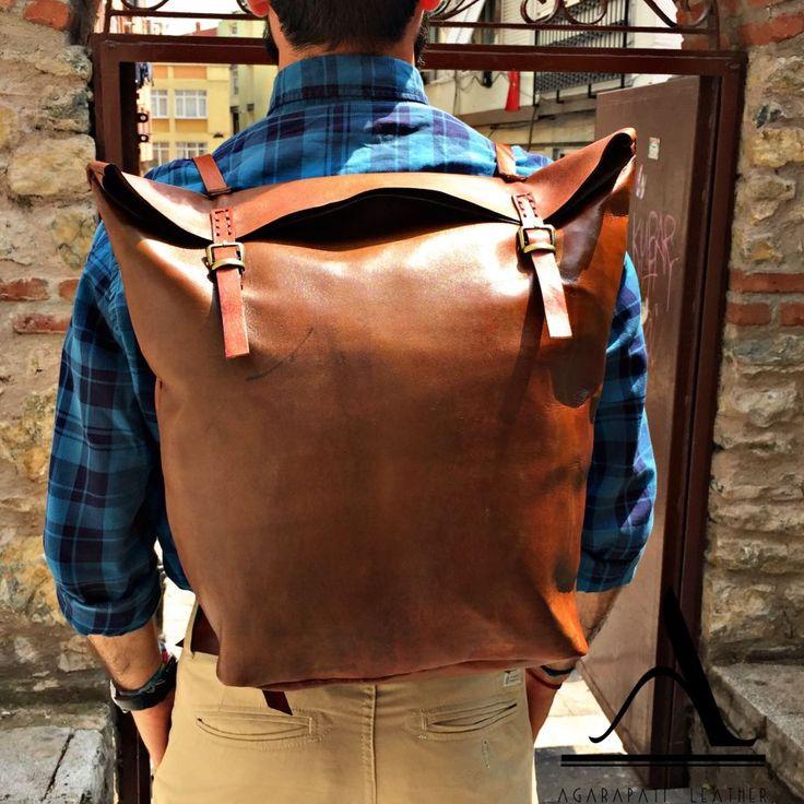 Agarapati Leather Deri Seyahat Sırt Çantası Zet.com'da 589.90 TL