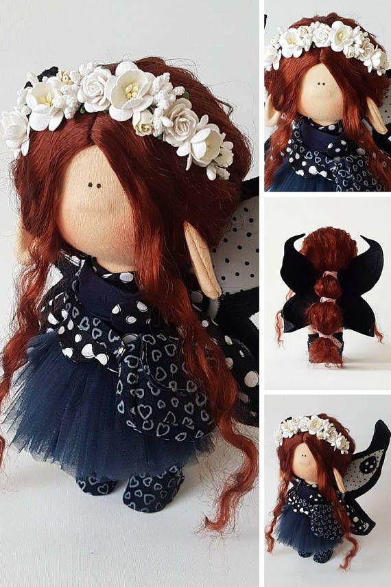 Butterfly doll Handmade doll Tilda doll Fabric doll Cloth doll