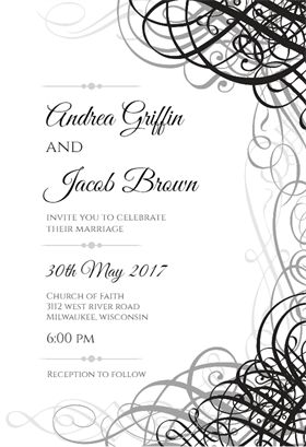 118 best Wedding Invitation Templates images on Pinterest