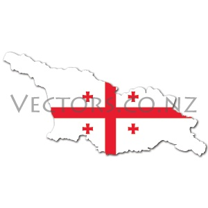 Flag Vector Map of Georgia