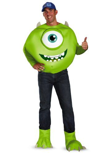 Disguise Mens Deluxe Disney Pixar Monsters University Mike Costume Plus 5052 ** You can get more details by clicking on the image.