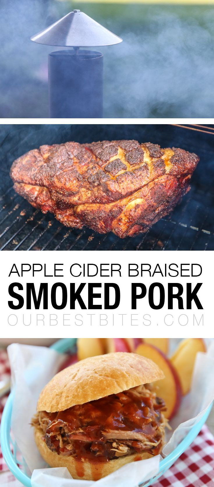 Smoked Pulled Pork Recipe : Traeger, Camp Chef, any pellet smoker - and you can make this amazing pulled pork with sweet and tangy apple cider sauce! via @ourbestbites