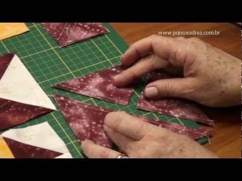 Tia Lili no Ateliê na TV (05/08/11): Caminho de mesa com a técnica Janelas da Catedral - YouTube