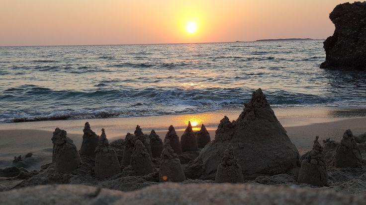Sandcastle in the sunset - Falassarna, Crete #trivo