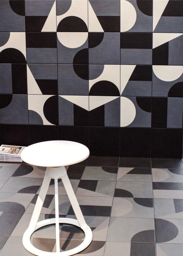 Puzzle tiles at Domus, Decorex 2016
