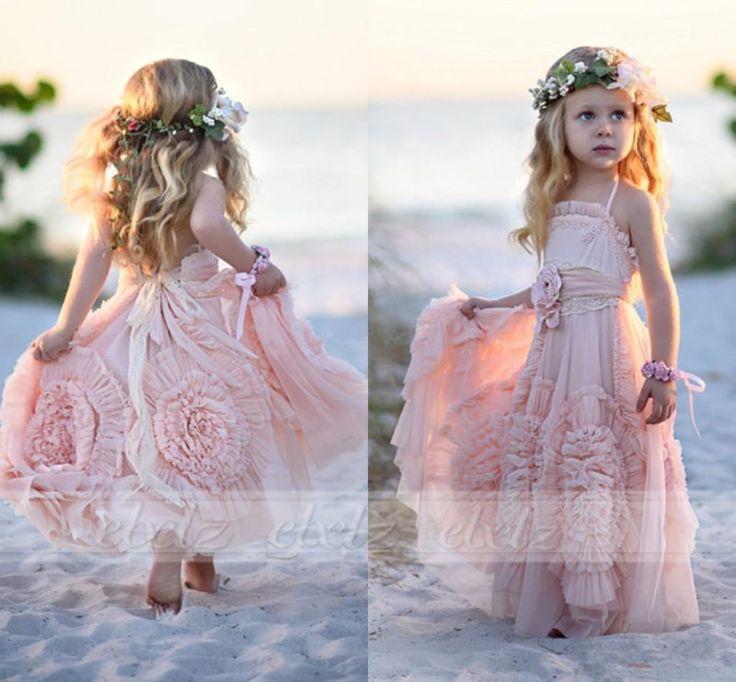 Pink Ball Gown Flower Girl Dresses Ruffles Tutu 2017 Vintage Little Baby Gowns 8 #Unbranded #BirthdayBridesmaidDressyEasterEverydayFormalHolidayHolyCommunionPageantPartyWedding
