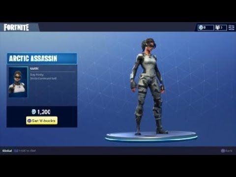 Arctic Assassin Outfit Daily Item In Fortnite Battle Royale