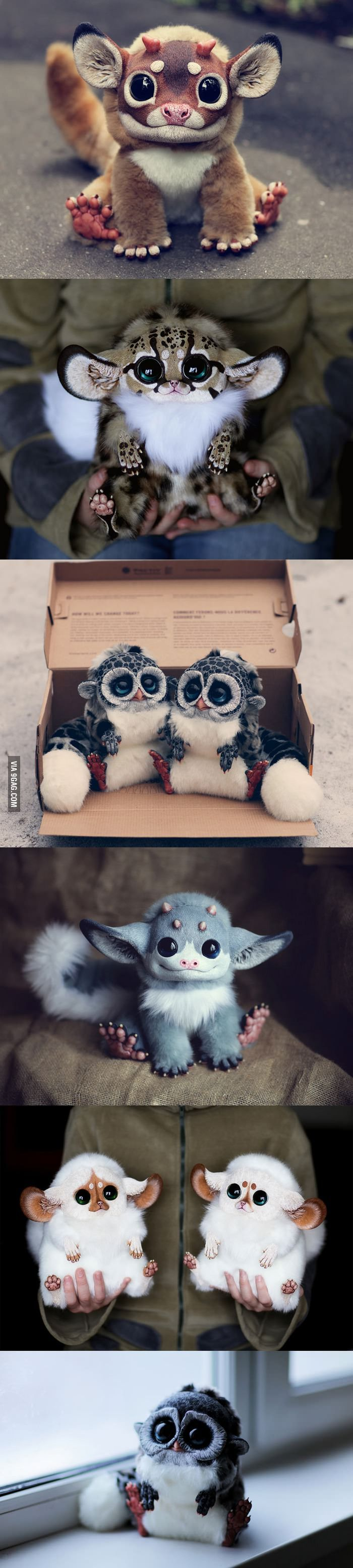 Ultra-realistic fantasy dolls made by Santani, a 23-year-old girl from Moscow, Russia. I want one so bad!