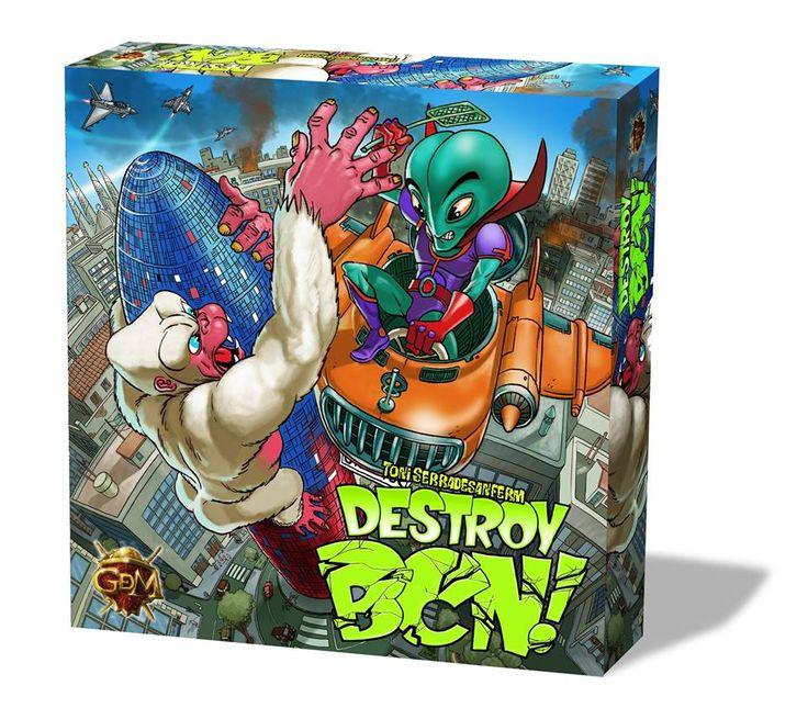 Reseña de Destroy BCN! en el blog de Juegos y dados. #DestroyBCN! #Juegosydados #boardgames #juegosdemesa #jocsdetaula #guerrademitos #gdmgames