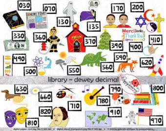 Library Dewey Decimal Category Clipart: (300 dpi transparent png) School Teacher Clip Art Librarian Classification