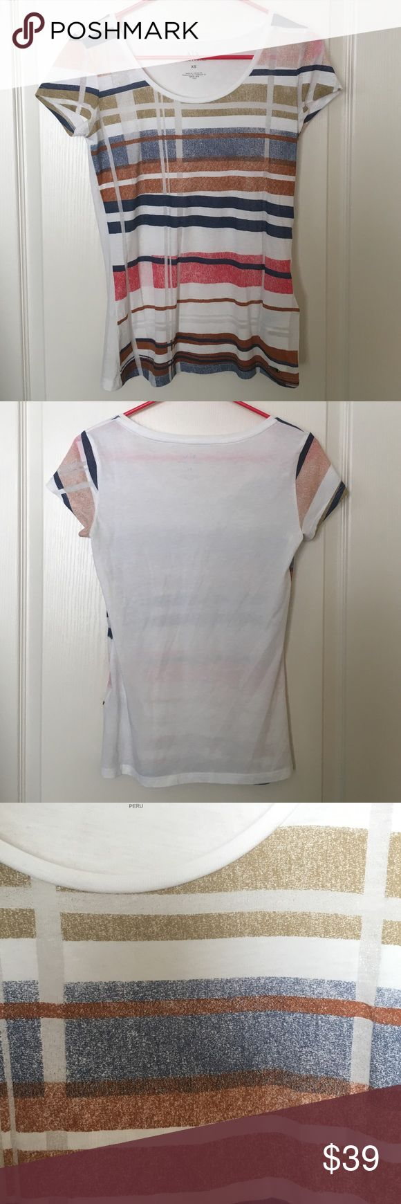 Armani Exchange Tee size XS. Measurements! Armani Exchange Tee size XS. Measurements lying flat armpit to armpit appx 16 inches, top to bottom appx 22.5 inches. A/X Armani Exchange Tops Tees - Short Sleeve