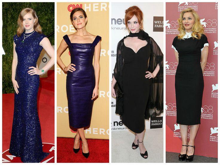 Amy Adams, Allison Williams, Christina Hendricks, and Madonna, by L'Wren Scott www.fashiononmymind.com
