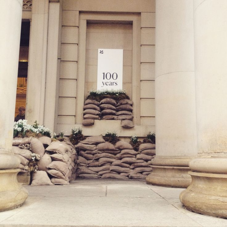 Sandbags and snowdrops | #remembrance | #100years
