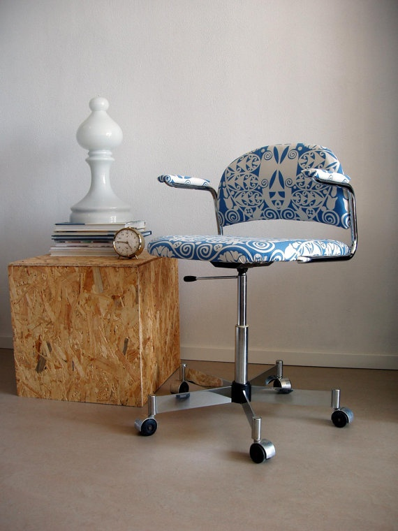 Not a fan of traditional office chairs, but this one is super cute. LuccieLoo on Etsy.