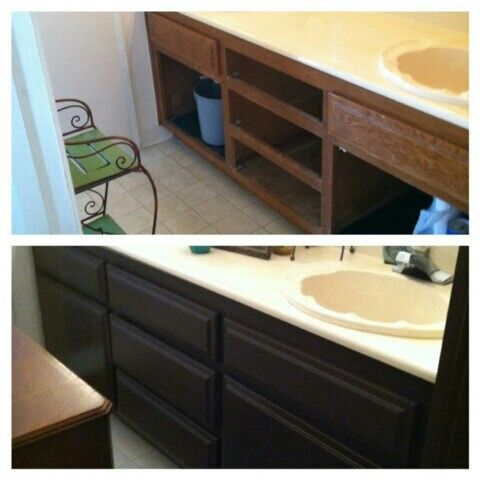 Bathroom Vanity Repainted Made A Big Difference