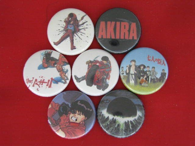 AKIRA FILM MOVIE TOKYO NUKED ANTI  GOVERNMENT GANG Pinback Buttons  #wtnabrand