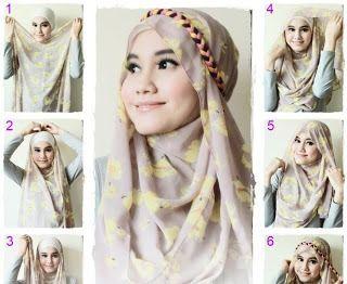 Hijab With Headband.  This is really beautiful.
