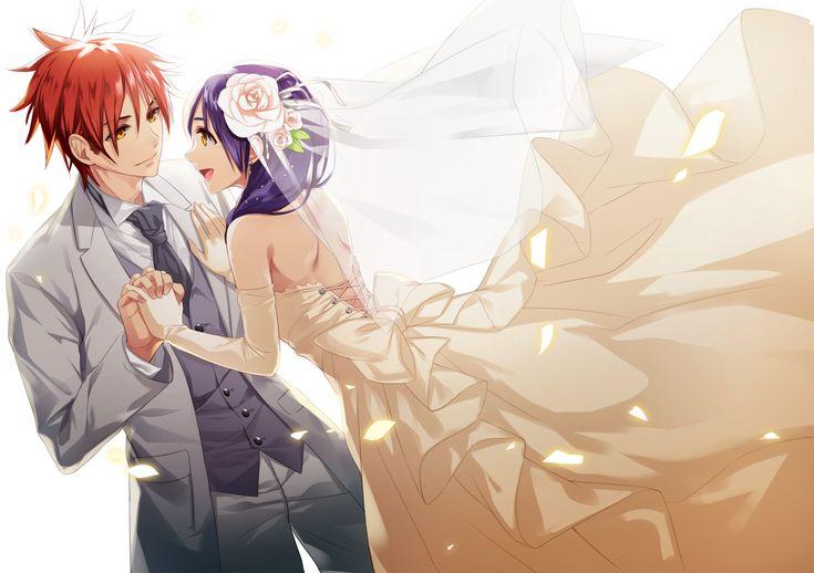 Shokugeki no Soma//  Yukihira Soma and Tadokoro Megumi,