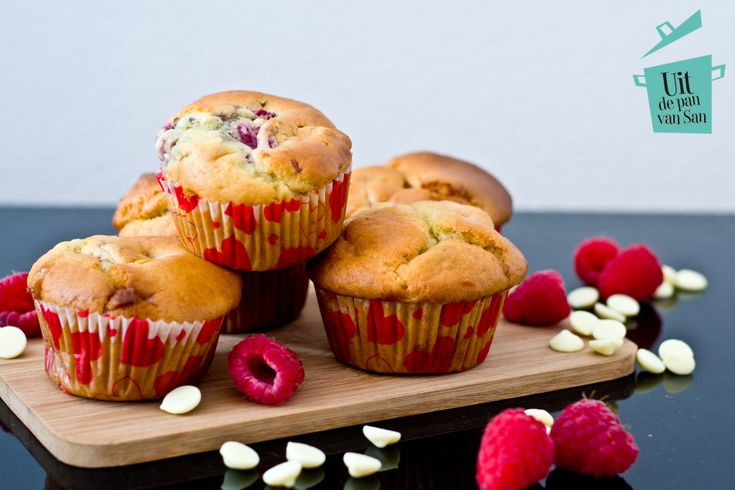 Framboos ricotta muffins - Uit de pan van San