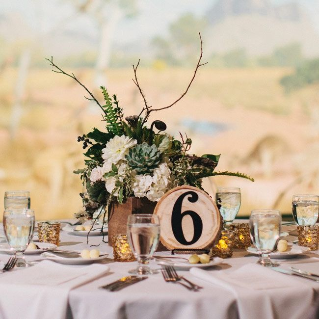 Rustic Centerpieces Were The Focal Point Of Each Round Table And Included  An Eye Catching Part 5
