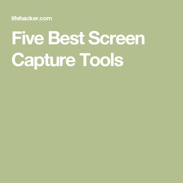 Five Best Screen Capture Tools
