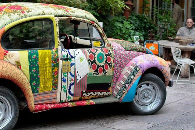 Fabric covered VW Bug!