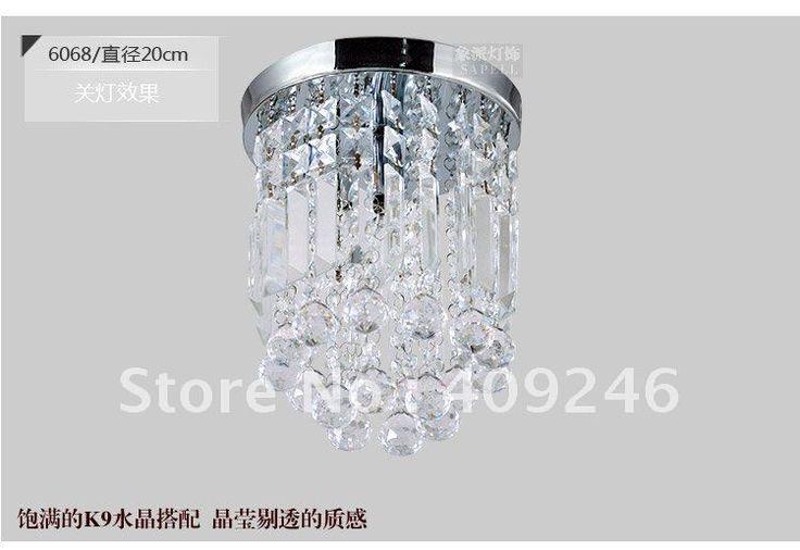6068 200 мм бесплатная доставка высокое качество пышное заподлицо с оценкой K9 лампы, Люстра, Стеклянная лампа, 110 В, 220 В