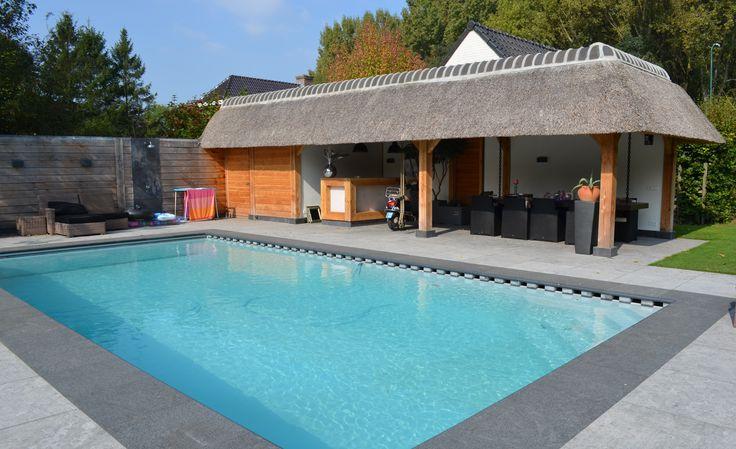aangelegd zwembad in eigen tuin