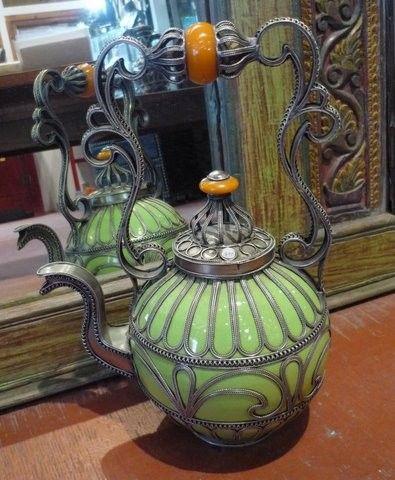 vintage Moroccan tea pot