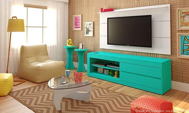apartamento pequeno colorido