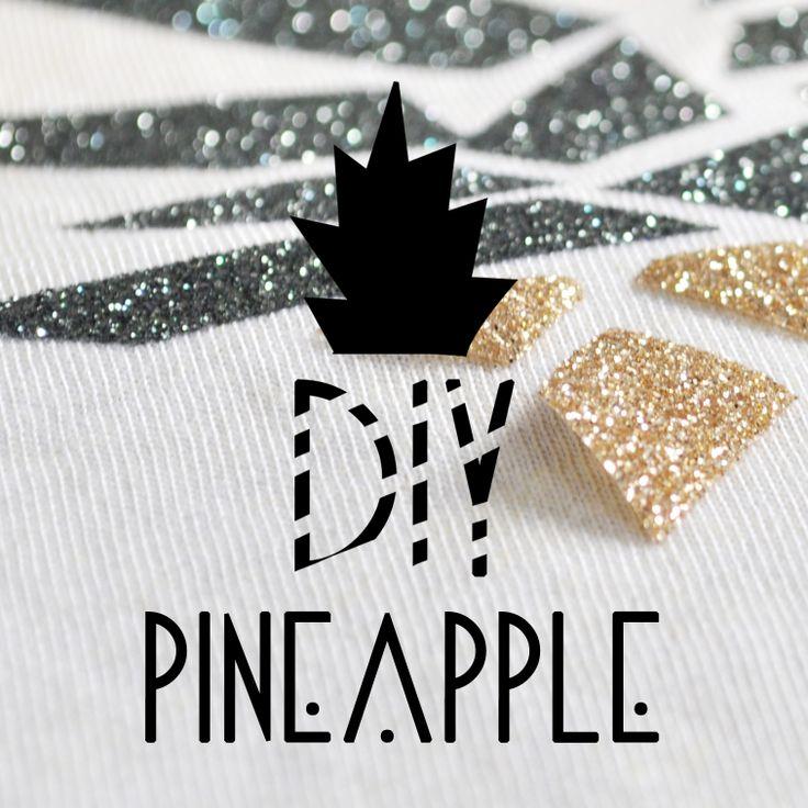 DIY flocage ananas glitter