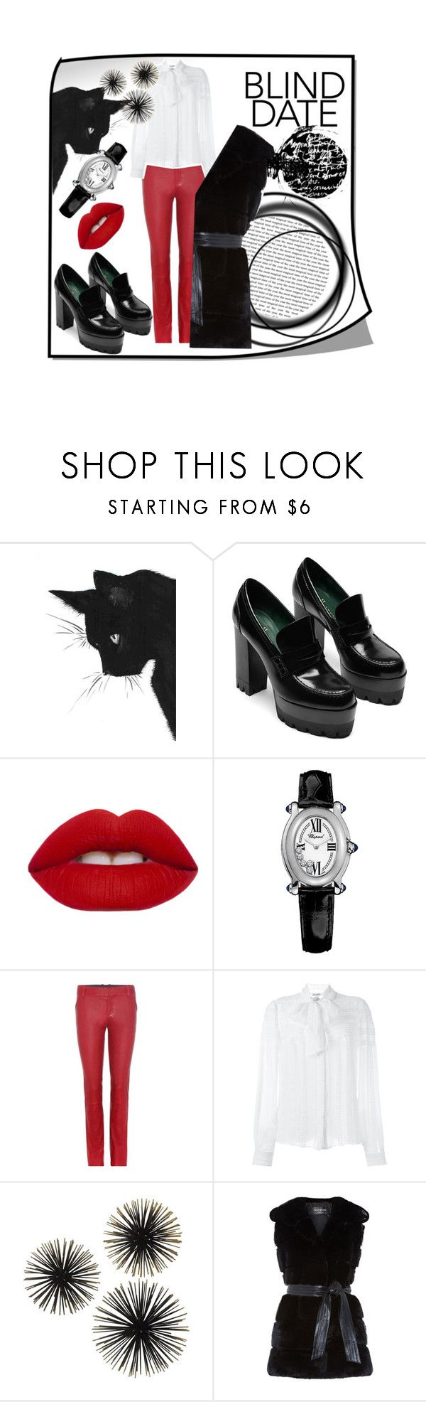 """when in doubt wear red."" by green-eye ❤ liked on Polyvore featuring Lime Crime, Chopard, STOULS, Oscar de la Renta, Harrods, red, Leather, loafers, leggins and chopard"