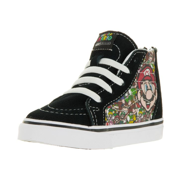 Vans Infants' Sk8-Hi Zip Nintendo Mario and Luigi Skate Shoes