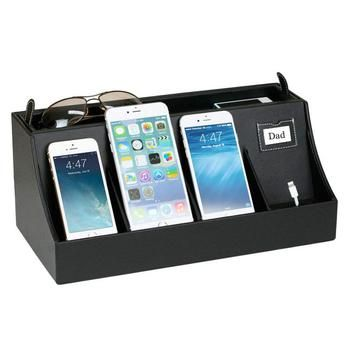 The Smartphone Charging Station easily fits today's large format phones - easily house 2 iPhone 6 Plus/iPhone 6S Plus/Nexus 6P in the middle partitions, and 2 additional phones comparable to the iPhone 6/6S.
