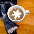 Make hot cocoa more fun! You'll need Cool Whip, wax paper, and a snowflake cookie cutter.