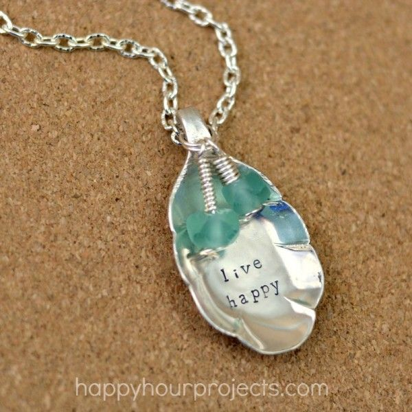 How to Make, Stamp and Embellish a Recycled Spoon Pendant - The Beading Gem's Journal