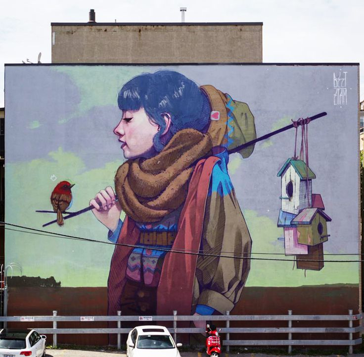 Bizt/Etam Cru. Mural Festival 2014. Montreal, Canada. (photo © Daniel Esteban Rojas)