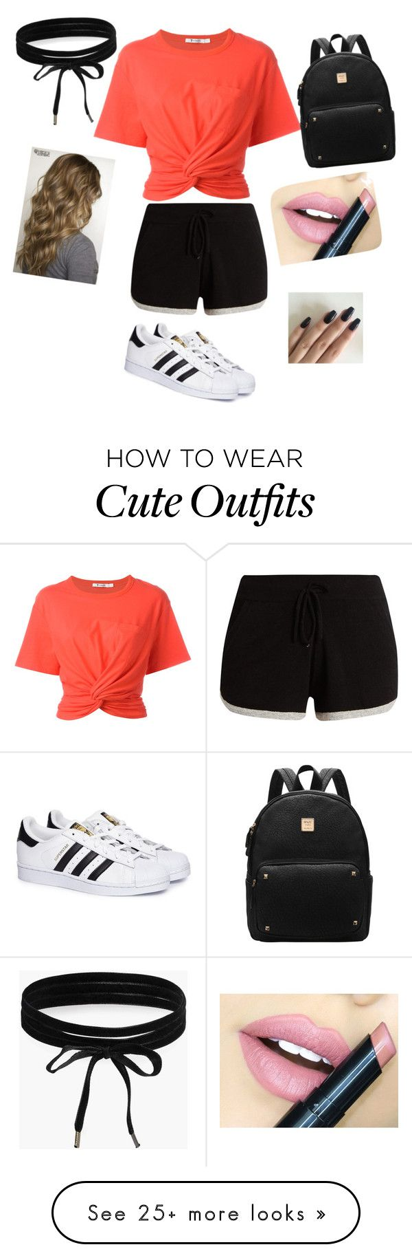 """Really Cute outfit=COMPLIMENT"" by jessicamondragon14 on Polyvore featuring T By Alexander Wang, Pepper & Mayne, adidas, Boohoo and Fiebiger"