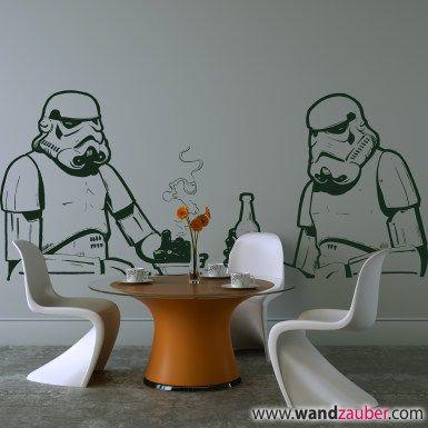 Wandtattoo: Sturmtruppler Comic Star Wars Stormtrooper – WANDZAUBER WANDTATTOOS