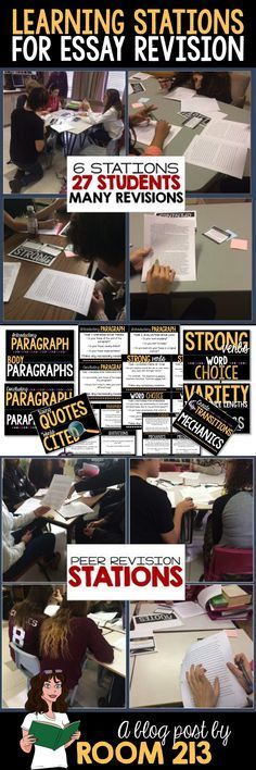 High School and Middle School English: focus on the process and use revision stations to do so. Read about how I use them in my classroom.