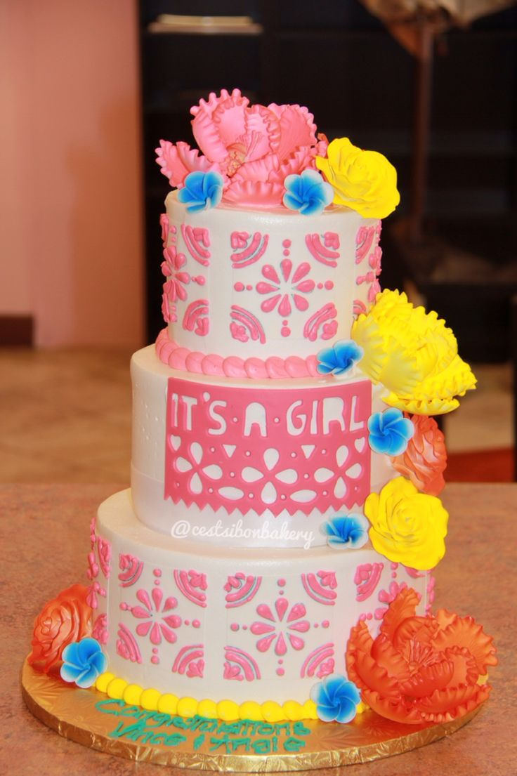 Fiesta babyshower cake.. Mexican themed party!!