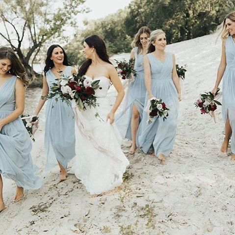 998 best real weddings dessy group weddings images on pinterest barefoot babes in a blue so soft it feels like the sky style 2894 in mist junglespirit Gallery