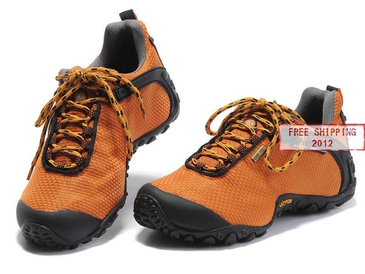 Merrell Waterproof Womens Hiking Shoe Orange Textile