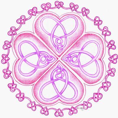 Celtic knot in a mandala, Keltische knoop, vlechtwerk, hartenknoop by Kim Vermeer