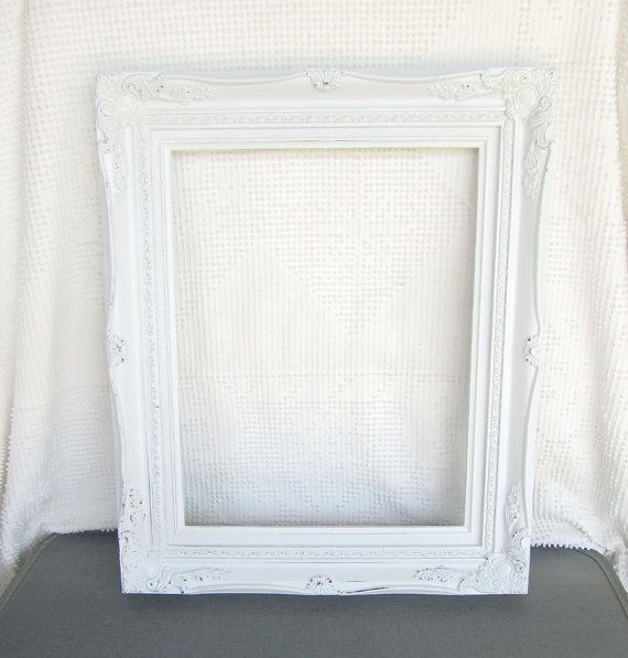 shabby chic white large ornate open resin frame gallery wall shabby chic ornate vintage frame. Black Bedroom Furniture Sets. Home Design Ideas