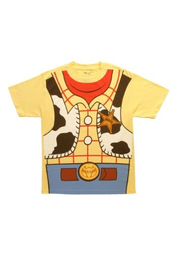 Being packed up in the attic is a drag, so that's why you need to make sure to be Andy's favorite toy by wearing this I Am Woody Toy Story Costume T-Shirt.
