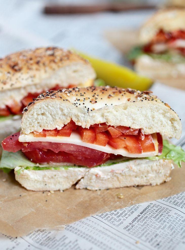 The best recipes for Sandwiches - VEGGIE BAGEL SANDWICH
